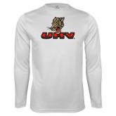 Performance White Longsleeve Shirt-UHV Logo
