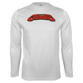 Performance White Longsleeve Shirt-UHV Jaguars