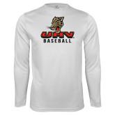 Performance White Longsleeve Shirt-UHV Baseball