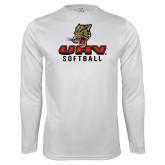 Performance White Longsleeve Shirt-UHV Softball