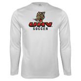 Performance White Longsleeve Shirt-UHV Soccer