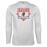 Performance White Longsleeve Shirt-Jaguars Baseball