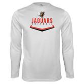 Performance White Longsleeve Shirt-Jaguars Softball