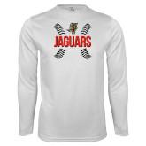 Performance White Longsleeve Shirt-Jaguars Ball Stitches