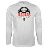 Performance White Longsleeve Shirt-Jaguars Soccer