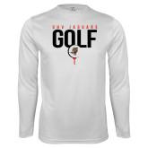 Performance White Longsleeve Shirt-Jaguars Golf