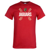 Red T Shirt-Jaguars Ball Stitches