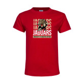 Youth Red T Shirt-Jaguars Graphic
