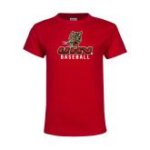 Youth Red T Shirt-UHV Baseball