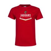 Youth Red T Shirt-Jaguars Softball