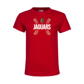 Youth Red T Shirt-Jaguars Ball Stitches