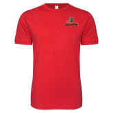 Next Level SoftStyle Red T Shirt-UHV Logo