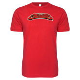 Next Level SoftStyle Red T Shirt-UHV Jaguars