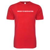 Next Level SoftStyle Red T Shirt-University of Houston Victoria