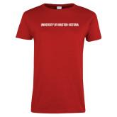 Ladies Red T Shirt-University of Houston Victoria