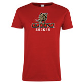 Ladies Red T Shirt-UHV Soccer
