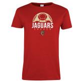 Ladies Red T Shirt-Jaguars Soccer