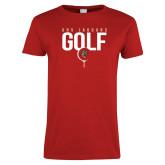 Ladies Red T Shirt-Jaguars Golf