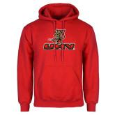 Red Fleece Hoodie-UHV Logo
