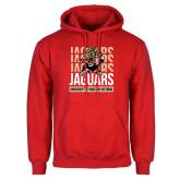 Red Fleece Hoodie-Jaguars Graphic