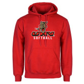 Red Fleece Hoodie-UHV Softball
