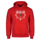 Red Fleece Hoodie-Jaguars Baseball