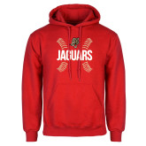 Red Fleece Hoodie-Jaguars Ball Stitches