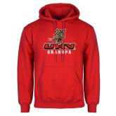 Red Fleece Hoodie-UHV Grandpa