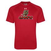 Under Armour Red Tech Tee-UHV Logo