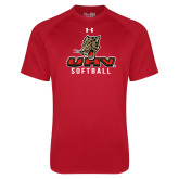 Under Armour Red Tech Tee-UHV Softball