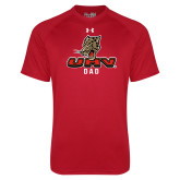 Under Armour Red Tech Tee-UHV Dad