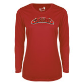 Ladies Syntrel Performance Red Longsleeve Shirt-UHV Jaguars