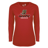 Ladies Syntrel Performance Red Longsleeve Shirt-UHV Soccer