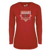 Ladies Syntrel Performance Red Longsleeve Shirt-Jaguars Baseball