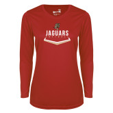 Ladies Syntrel Performance Red Longsleeve Shirt-Jaguars Softball