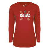 Ladies Syntrel Performance Red Longsleeve Shirt-Jaguars Ball Stitches