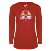 Ladies Syntrel Performance Red Longsleeve Shirt-Jaguars Soccer