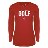 Ladies Syntrel Performance Red Longsleeve Shirt-Jaguars Golf