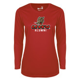 Ladies Syntrel Performance Red Longsleeve Shirt-UHV Alumni