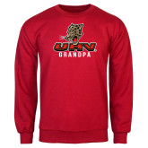 Red Fleece Crew-UHV Grandpa