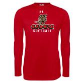 Under Armour Red Long Sleeve Tech Tee-UHV Softball