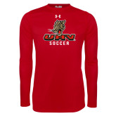 Under Armour Red Long Sleeve Tech Tee-UHV Soccer