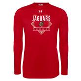 Under Armour Red Long Sleeve Tech Tee-Jaguars Baseball