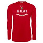 Under Armour Red Long Sleeve Tech Tee-Jaguars Softball