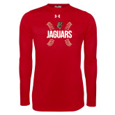 Under Armour Red Long Sleeve Tech Tee-Jaguars Ball Stitches