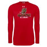 Under Armour Red Long Sleeve Tech Tee-UHV Alumni
