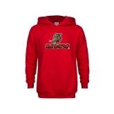 Youth Red Fleece Hoodie-UHV Logo