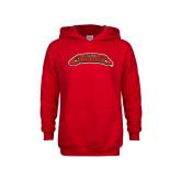 Youth Red Fleece Hoodie-UHV Jaguars