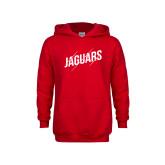 Youth Red Fleece Hoodie-Jaguars