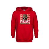 Youth Red Fleece Hoodie-Jaguars Graphic